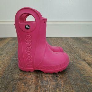 """CROCS """"Handle it"""" Girl's C8 Waterproof Rain Boots"""